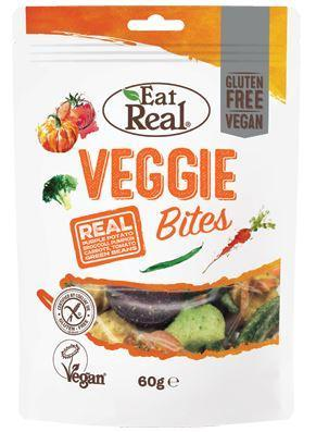 Crisps, Chips & Popcorn - Eat Real - Veggie Bites - Vegetable Crisps (60g)