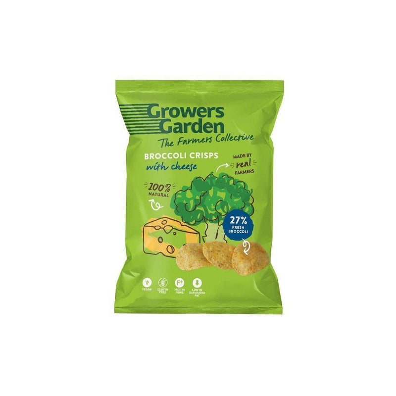 Crisps, Chips & Popcorn - Growers Garden - Broccoli Crisps With Cheese (22g)
