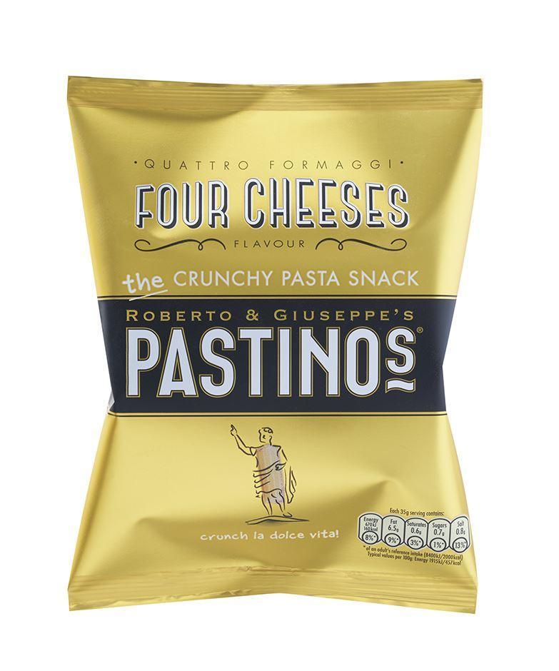 Crisps, Chips & Popcorn - Pastinos - Four Cheeses Crunchy Pasta Snack Crisps (35g)