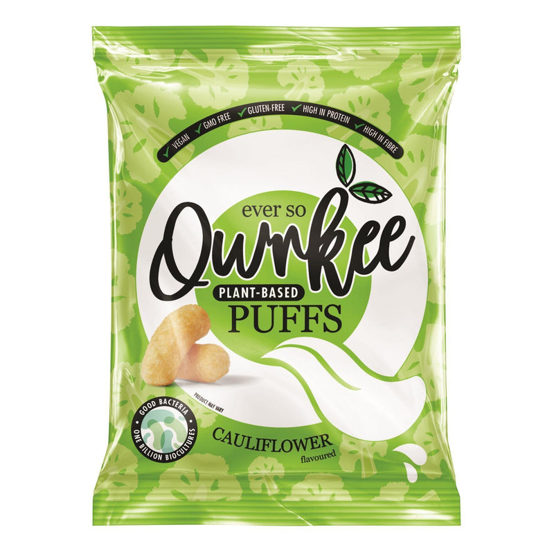 Crisps, Chips & Popcorn - Qwrkee - Probiotic Puffs Cauliflower (80g)