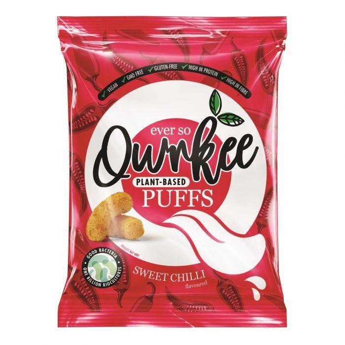 Crisps, Chips & Popcorn - Qwrkee - Probiotic Puffs - Thai Sweet Chilli (80g)