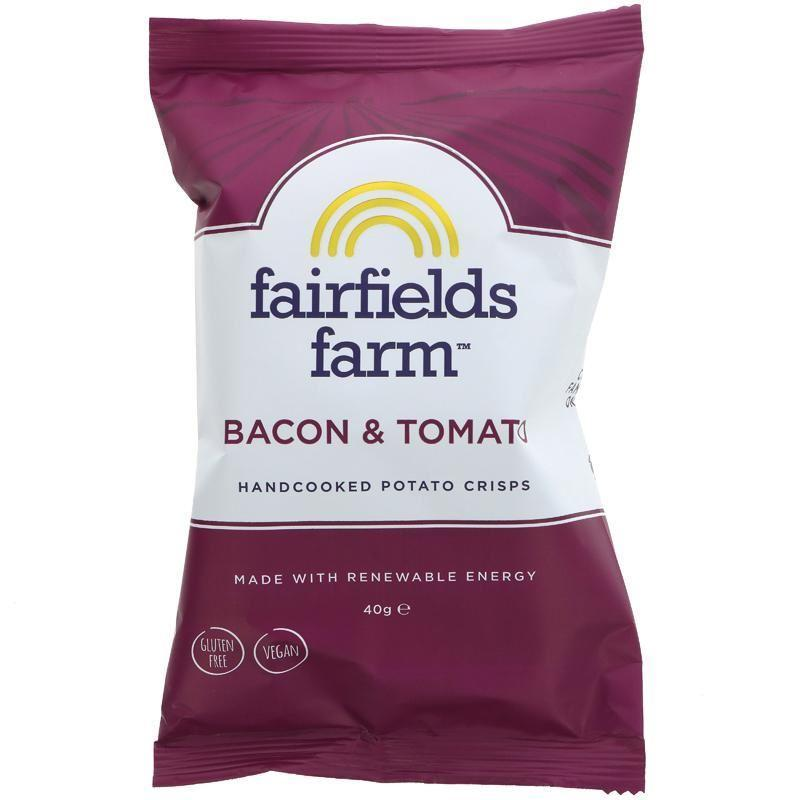 Crisps - Fairfield Farm - Bacon & Tomato Handcooked Potato Crisps (40g)