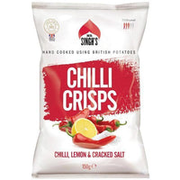 Crisps - Mr Singh's - Chill, Lemon & Cracked Salt Crisps (150g)