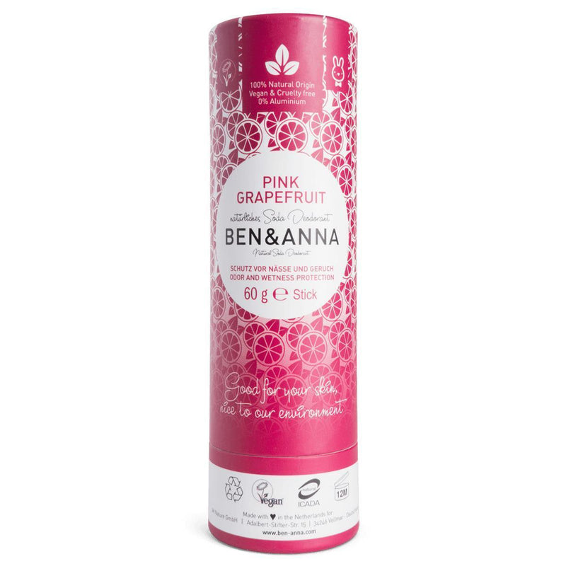 Deodorants - Ben & Anna - Natural Soda Deodorant - Pink Grapefruit (60g)