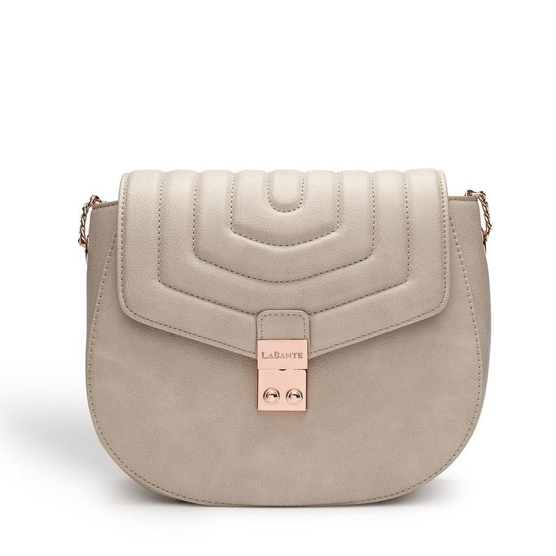Designer Bags - LaBante - Courtney Grey Quilt Cross-Body Bag