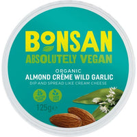 Dressings, Dips, Sauces, Spreads - Bonsan - Organic Almond Spread - Wild Garlic (125g)