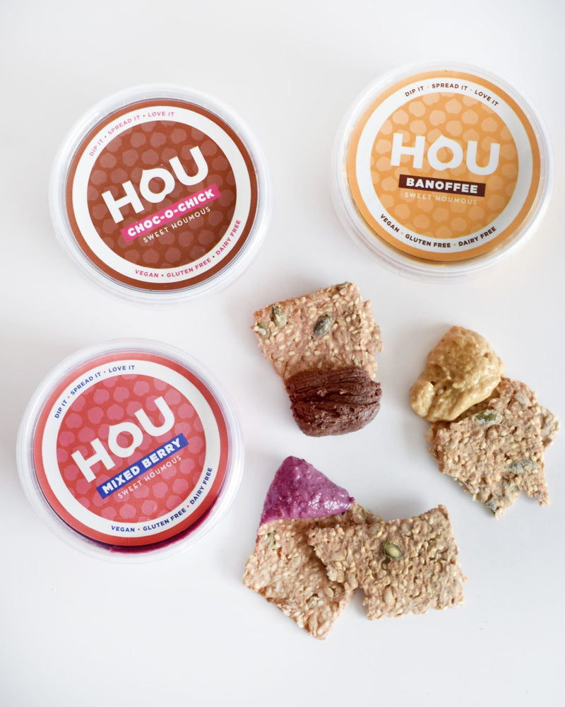 Dressings, Dips, Sauces, Spreads - HOU - Banoffee Flavoured Sweet Houmous (Hummus) (180g)