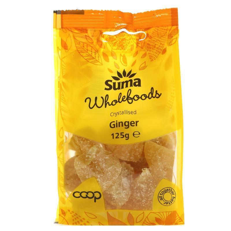 Dried Fruits - Suma - Crystallised Ginger (125g)