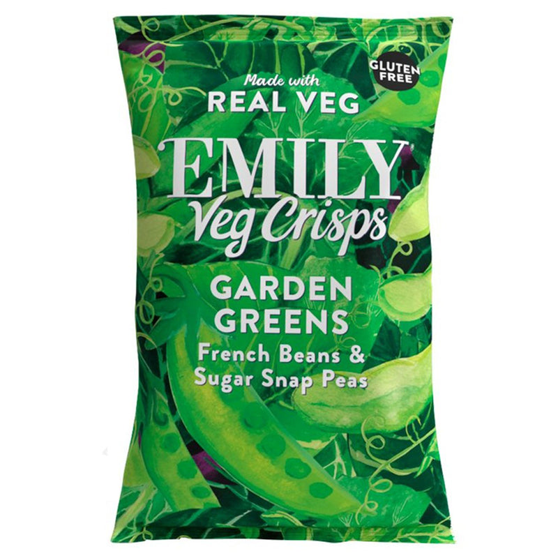 Emily - Veg Crisps - Garden Greens with French Beans & Sugar Snap Peas (23g)
