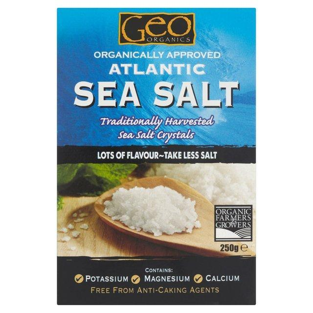 Herbs & Spices - Geo Organics - Atlantic Sea Salt (various)