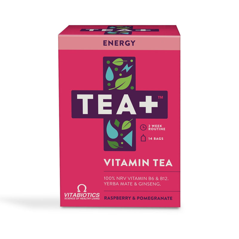 Hot Drinks - 10% Off Introductory Offer! TEA+ Vitamin Tea - Energy (14 Teabags)