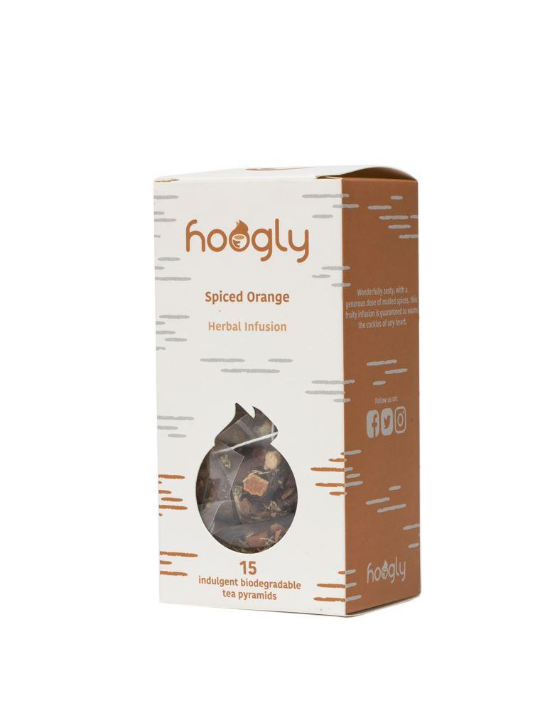 Hot Drinks - Hoogly - Spiced Orange - Herbal Infusion Tea Pyramid Teabags (15 Teabags)