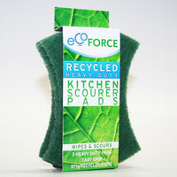 Ecoforce Recycled Heavy Duty Scourer Pads (3 Pack) - TheVeganKind