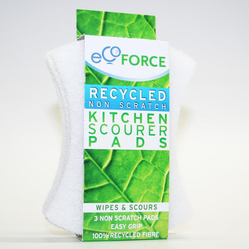 Ecoforce Recycled Non Scratch Scourer Pads (3 Pack) - TheVeganKind