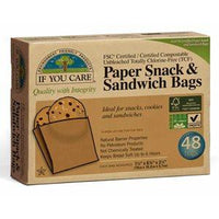 Kitchen - If You Care Paper Snack & Sandwich Bags (48 Bags)