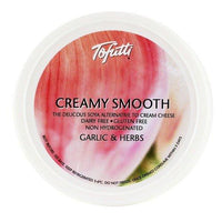 Non-Dairy Spread - Tofutti Creamy Smooth, Garlic & Herbs (225g)