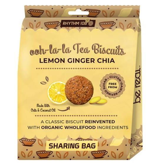 Other Snacks - Rhythm 108 - Organic Lemon Ginger Chia Biscuit (135g)