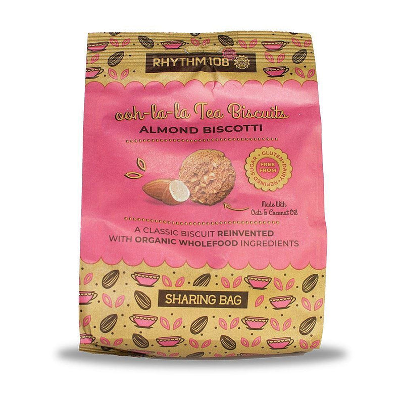 Other Snacks - Rhythm 108 - Organic Ooh-La-La Tea Biscuit Sharing Bag - Almond Biscotti (135g)