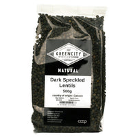 Pasta, Rice & Wholefoods - Green City - Dark Speckled Lentils (500g)