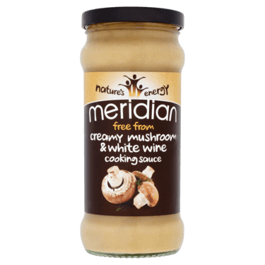 Sauces & Stocks - Meridian Free From Creamy Mushroom & White Wine Cooking Sauce (350g)