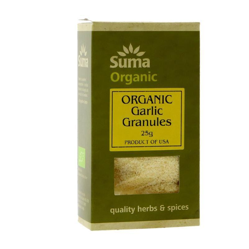 Sauces, Stocks & Seasoning - Suma - Organic Garlic Granules (25g)