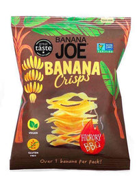Savoury Snacking - Banana Joe - Banana Chips - Hickory BBQ Crisps (23g)