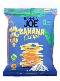 Savoury Snacking - Banana Joe - Banana Chips - Sea Salt Crisps (23g)