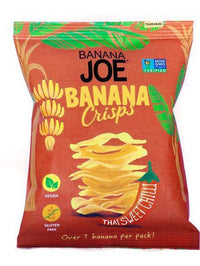 Savoury Snacking - Banana Joe - Banana Chips - Thai Sweet Chilli Crisps (23g)