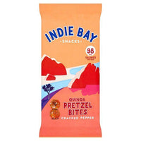 Savoury Snacking - Indie Bay - Quinoa & Cracked Pepper Pretzel Bites (26g)