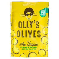 Savoury Snacking - Olly's Olives - The Hippie - Lemon & Thyme Green Olives (50g)