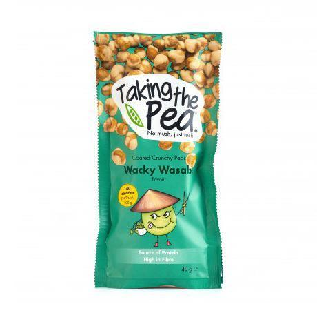 Savoury Snacking - Taking The Pea - Wacky Wasabi Crunchy Peas (40g)