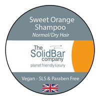 Shampoos & Conditioners - The Solid Bar Company - Orange Vegan Shampoo - Normal/Dry Hair (42g)