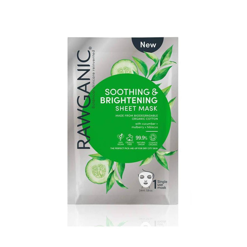 Skin Care - Face - RAWGANIC - Organic Soothing & Brightening Sheet Mask