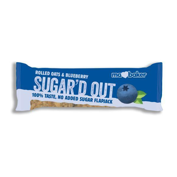 Snack Bars - Ma Baker - Sugar'd Out No Added Sugar Flapjack (Blueberry) (50g)