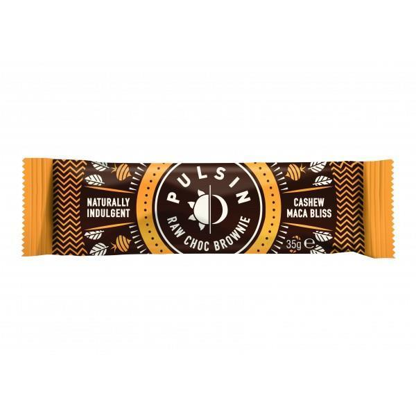 Snack Bars - Pulsin - Cashew Maca Bliss Raw Choc Brownie (35g)