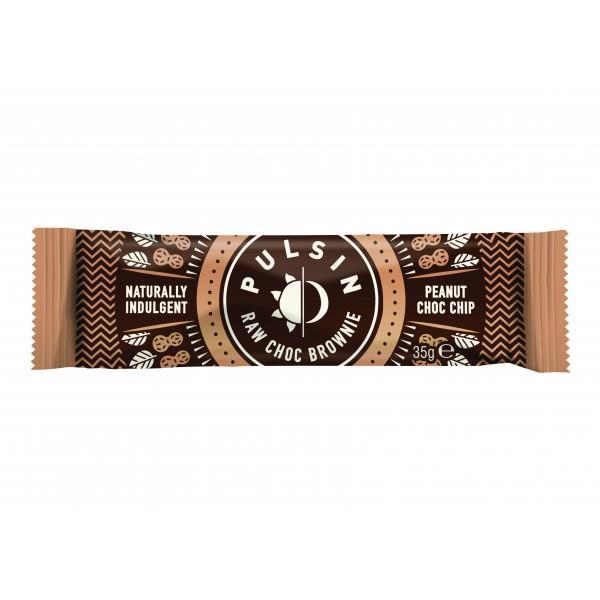 Snack Bars - Pulsin - Peanut Choc Raw Choc Brownie (35g)