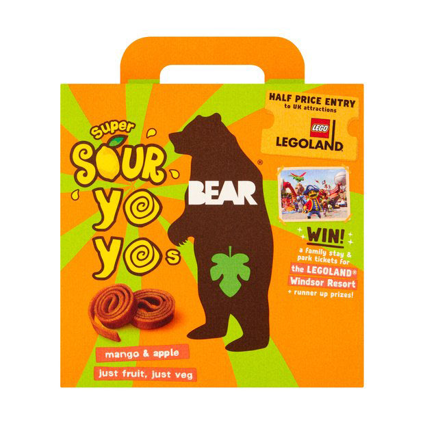 Bear - Multi-Pack Yo-Yo's Super Sour - Mango & Apple (5x20g)