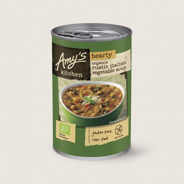 Soups - Amy's Kitchen - Organic Hearty Rustic Italian Vegetable Soup (397g)