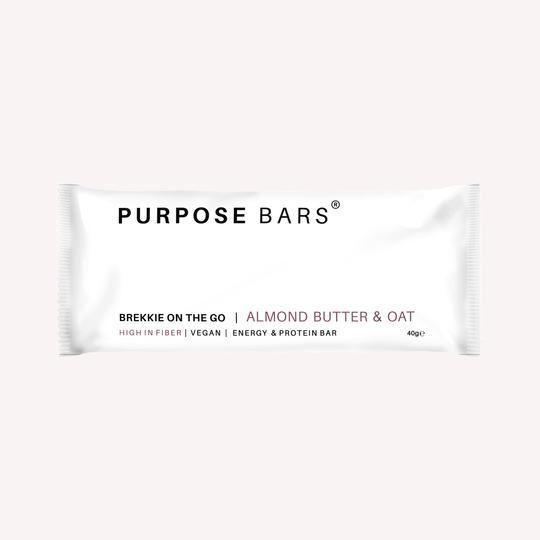 Sports Supplements - Purpose - Brekkie On The Go - Almond Butter & Oat Bar (40g)