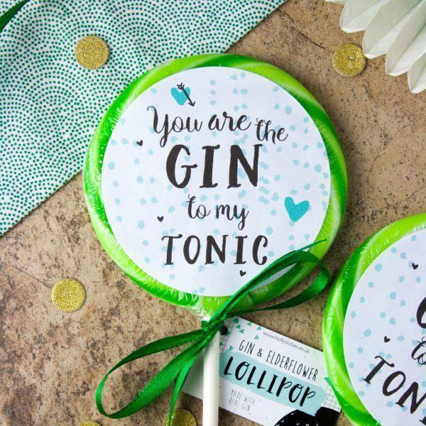 "Sweets - Holly's Lollies - ""You Are The Gin To My Tonic"" Lolly (85g)"