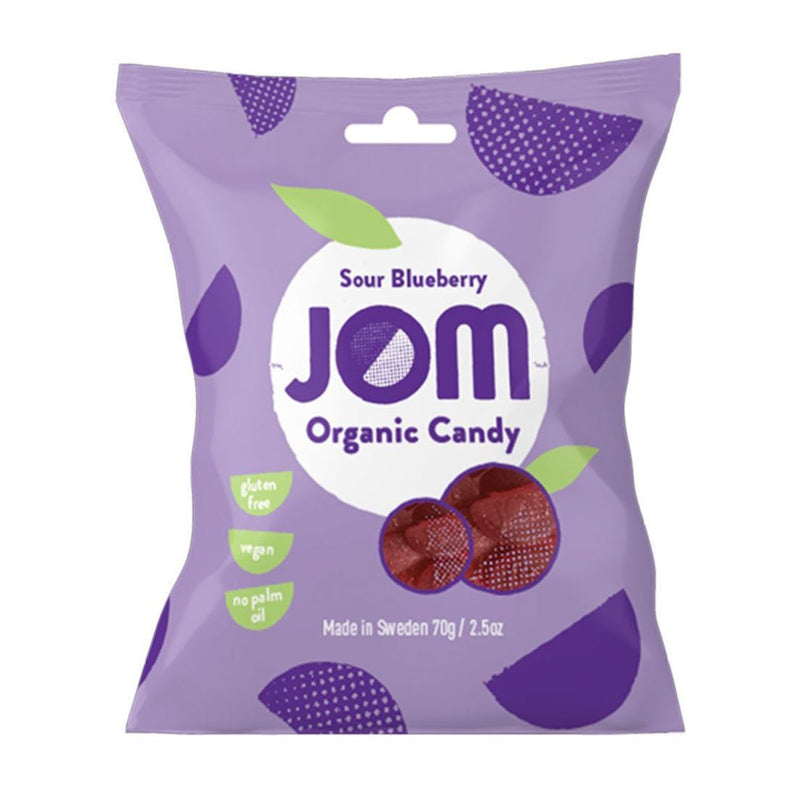 Sweets - Jom - Organic Candy - Sour Blueberry (70g)