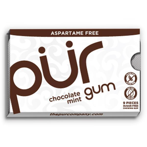 Sweets - PUR - Chocolate Mint Blister Aspartame Free Gum (12.6g)