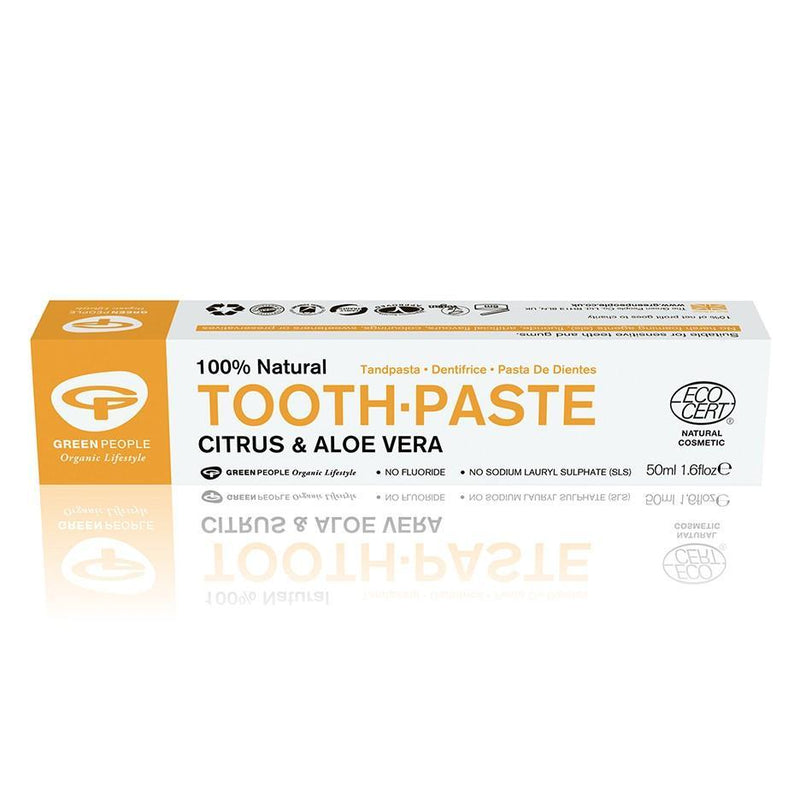 Toothpastes - Green People 100% Natural Tooth-Paste (Citrus & Aloe Vera) (Flouride Free) (100ml)