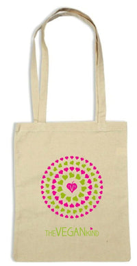 "Vegan Accessories - TVK ""Be Kind, Go Vegan"" Tote Bag"