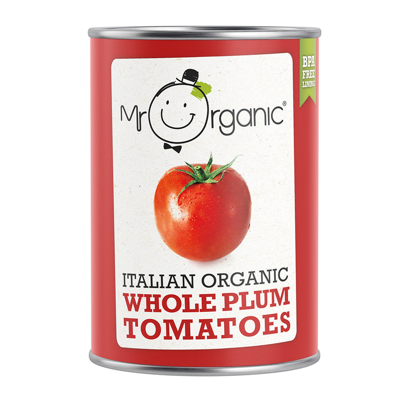 Mr Organic Italian Whole Plum Tomatoes (400g)