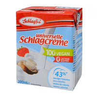 Yogurts & Desserts - Schlagfix - Vegan Whipping, Baking & Cooking Cream - Unsweetened (200ml)