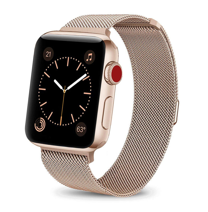 Gold Stainless Steel Apple Watch Band
