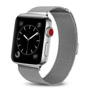 Silver Stainless Steel Apple Watch Band