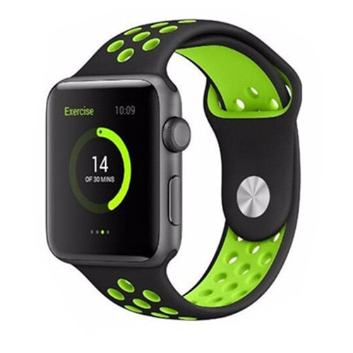 Black & Green Apple Watch Sport Band