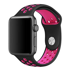 Black & Pink Apple Watch Sport Band